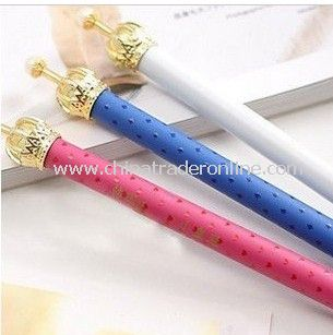 New stationery, cute little shining crown pen, simple and stylish. Cartoon pen