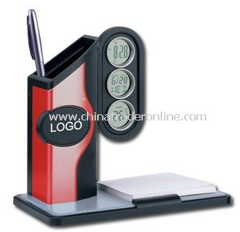 Pen Holder Clock, Table Clock, Fashion Design, Professional Manfacturing