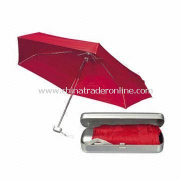 5-fold Super Mini Umbrella (Convenience for Travel), Customized Designs are Welcome