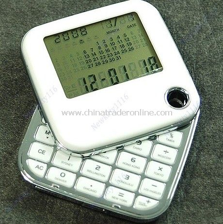 5 pieces /lot 180 Retation World Time Travel Calculator Alarm Clock