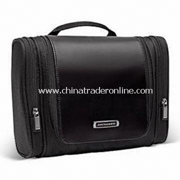 Fashionable Man Travel Toiletry Kit with Main Compartment Features Wide Opening for Easy Access