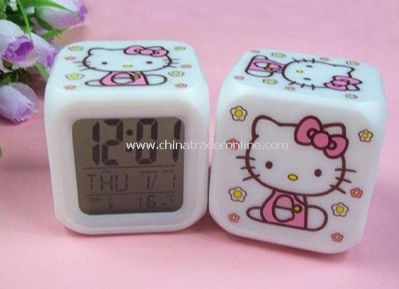 Glowing Led Color Change Digital Alarm Clock, mini clock , travelling clock