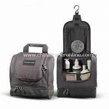 Hanging Travel Toiletry Kit, Made of 840D Nylon, Customized Designs are Accepted