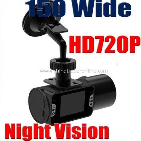HD 720p Vehicle Car Camera DVR Dashboard Recorder (Night Vision)