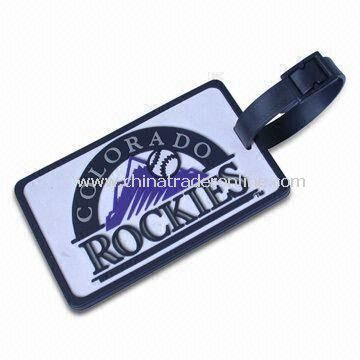 Luggage Tag, Available in Various Colors, Made of Metal or Soft PVC