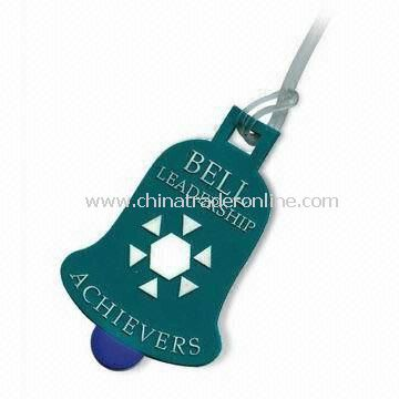 Luggage Tag, Made of Soft PVC, Customized Sizes, Designs, and Shapes are Accepted