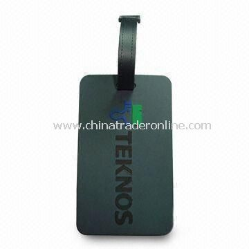 Luggage Tag, Made of Soft PVC, Customized Sizes, Designs and Shapes are Welcome