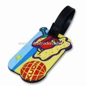 Luggage Tag, Made of Soft Rubber Material, Sized 9 x 5.5 x 0.5cm