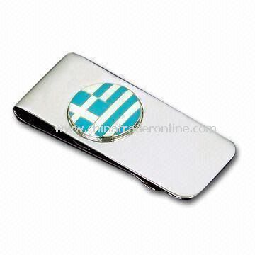 Money Clip with Delicate Logo, Available in Different Colors