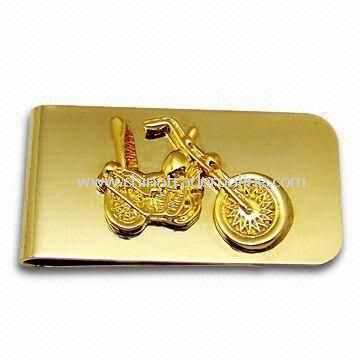 Money Clip with Gold, Nickel, Silver, and Bronze Plating, Available in Various Logos from China