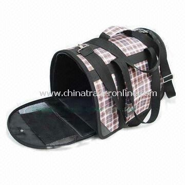 Nylon Pet Carrier Bag with Entire Packet Body Plastic Board Support, OEM Orders are Welcome