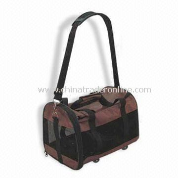 Pet Brown and Black Carrier Bag, Available in Various Sizes