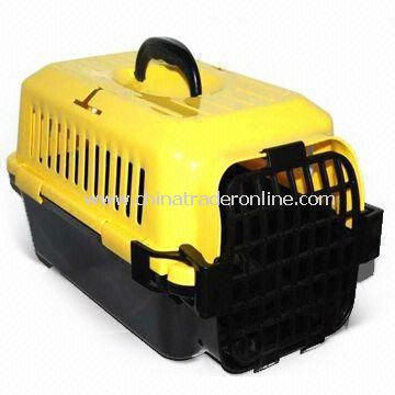 Pet Carrier/House with Secure Locking Mechanism, Made of ABS, OEM Orders are Welcome