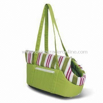 Pet Carry Bag, Made of Fabric, Available in Green and Yellow