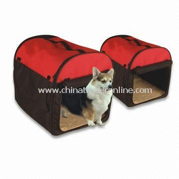 Pet Crates in Red, Made of Canvas, Available in Various Sizes