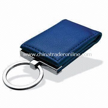 Promotional Money Clip, Made of Leather, Customized Colors and Designs are Accepted