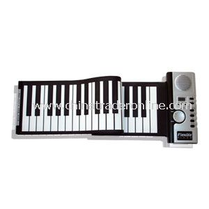 Roll Up Synthesizer Piano with 61 keys LED Keyboard