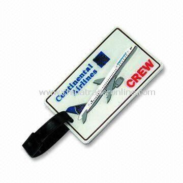 Travel Tag, Made of Soft PVC Rubber, Measures 10.5 x 6.5cm