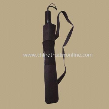 Two-folding Auto Open/Close Umbrella with a Travel Belt for Easy Carry