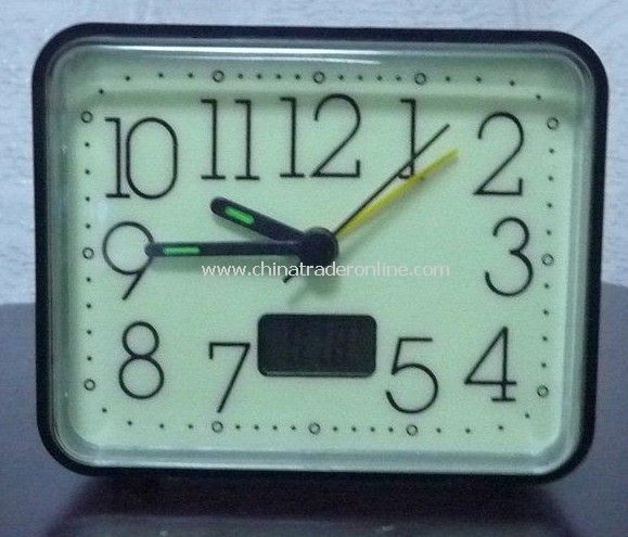 Wholesale - Glow in the Dark Travel Alarm Clock with Digital Temperature Gauge.