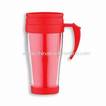 14-ounce Travel Mug, Available in Red, Made of New AS Material from China