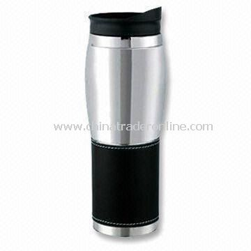 16oz Stainless Steel Travel Mug, New Design, Measures 55.5 x 37.5 x 21.5cm