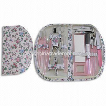 18pcs Manicure and Cosmetic Kit, Includes Tweezers/Small Nail Clippers/Nail Trimmers