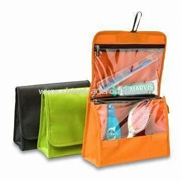 2011 New Arrival Toiletry Travel Kits, Made of Nylon, Water-resistant Interior