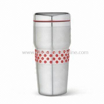 Double Wall Travel Mug with 450mL Capacity, Made of Stainless Steel