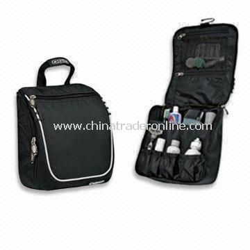 Hanging Travel Toiletry Bag, Made of 600D Nylon, Customized Logo Printings are Accepted