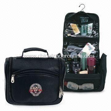 Hanging Travel Toiletry Bag, Made of Microfiber or Nylon, OEM Orders are Welcome
