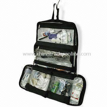 Hanging Travel Toiletry Kits, Customized Designs are Accepted, Various Colors are Available