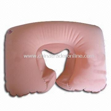 Inflatable Travel Neck Pillow with Heart Shape