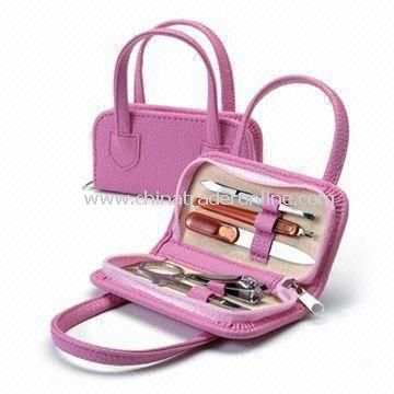 Manicure Kit, Available in Pink or Black Colors, Suitable for Gift and Promotional Purposes from China