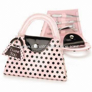 Manicure Kits Bag, Various Designs are Available, Includes Cosmetic Scissors