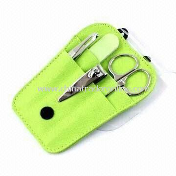 Manicure Tool with Nail Clipper, Pouch, Available in Various Colors and Styles from China