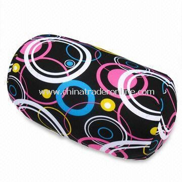 Neck Pillow for Travel Use, Made of EPS/Polystyrene Pellets and Spandex, Accepts Personalized Shapes