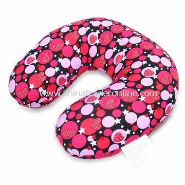 Neck Pillow for Travel Use, Made of Spandex and EPS/Polystyrene Pellets, Comes in Various Sizes