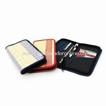 Passport Case, Made of Rush and Cloth, Available in Various Colors