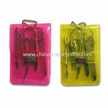 Promotional Manicure Kits, Various Pouch Colors are Available, Includes Cosmetic Scissors