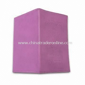 PU Passport Case/Cover, Available in Different Colors, Sized 13.6 x 9.6cm
