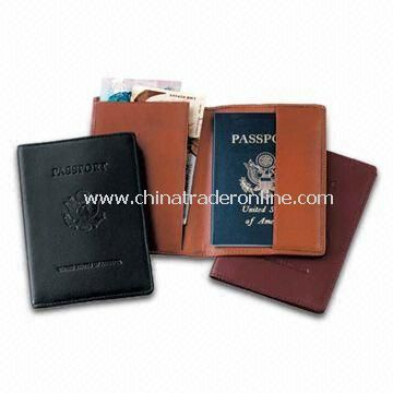 PVC Leather Debossed Passport Holder with One Side and Document Holder