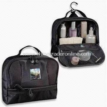 Toiletry Travel Kit, Made of Nylon, Customized Sizes and Materials are Accepted