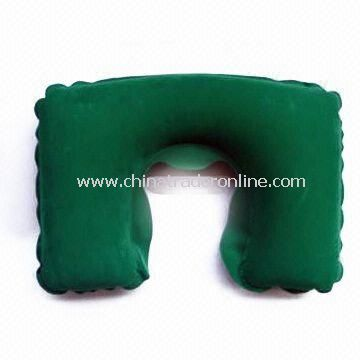 Travel/Inflatable Neck Pillow with Pouch, Made of PVC