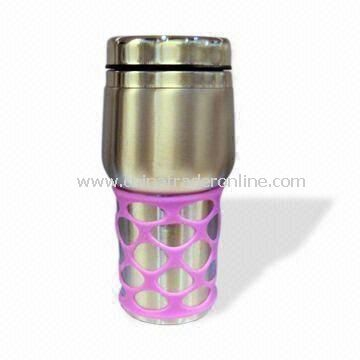 Travel Mug, Made of Stailess Steel Material, with 400mL Capacity