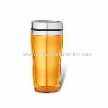 Travel Mug with 450mL Capacity, Made of Stainless Steel, Also Available in Yellow