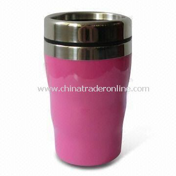 Travel Mug with 9oz Capacity, Available in Purple Red