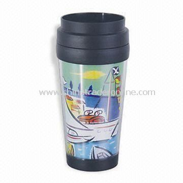 Travel Mug with Capacity of 16oz and Colorful Printing