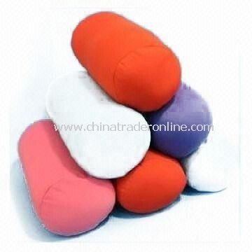 Travel/Neck Pillows with Polyester Filling, Made of 100% Cotton