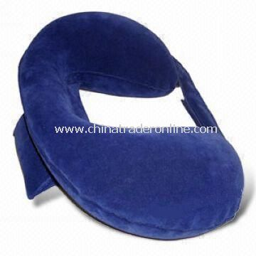 Travel Pillow, Made of PVC Flocked, OEM Orders are Welcome